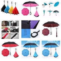 Двухслойный зонт обратного сложения/ ветроустойчив