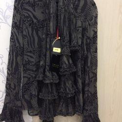 Блуза с шарфом