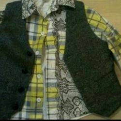 Дизайнерская рубашка, жилет