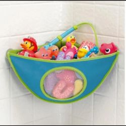 Corner Grid for storing toys in the bathroom
