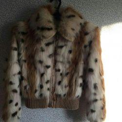 Fur coat natural fox