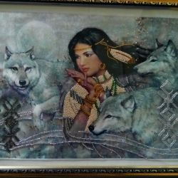 Painting dance with wolves