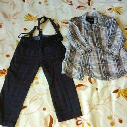 Παντελόνι Zara + Πουκάμισο για το αγόρι TOM TAILOR