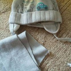 Şapka 46-48 ve eşarp