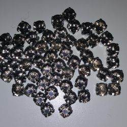 Sewed rhinestones