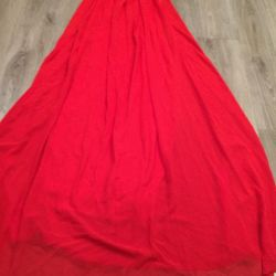 Dress red with a collar