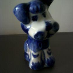 # Собака. Фігурка Гжель