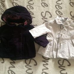 Jackets for a newborn girl. Height 56