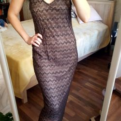Midi stretch lace dress