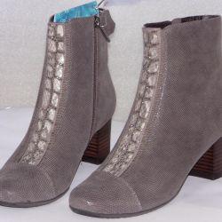 37 Autumn Velor Half Boots by Cavaletto