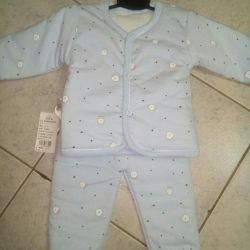 Suit on sintepon. New. Size 68