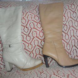 Δερμάτινες μπότες χειμώνα