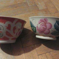 Porcelain salad bowl with gilding of the USSR.