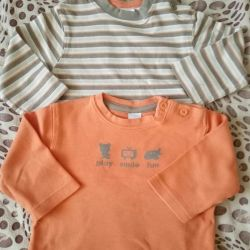 T-shirts with sleeves 2 pcs.