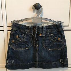 Children's things, denim skirt for a girl 3-4 years
