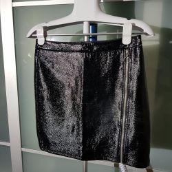 Bershka varnished mini skirt