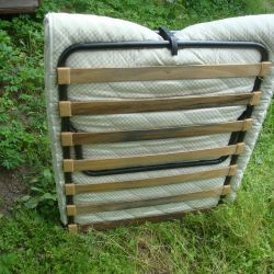 clamshell on wooden slats