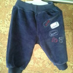 Velor clothes for ages 3-9 months