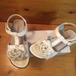 Sandals white for girls