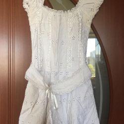 Φόρεμα θηλυκό καλοκαίρι (ράψιμο + δαντέλα)
