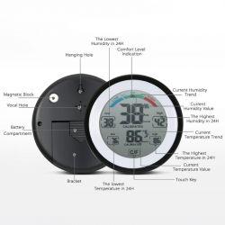 Dokunmatik ekranlı termometre Higrometre