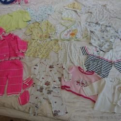 Baby clothes from 58 to 1g