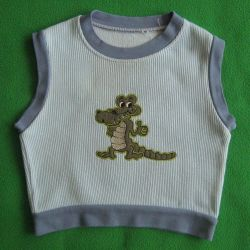 Children's vest with Crocodile made of cotton 74 - 86
