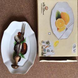 Porselen tabak ve mantar için çatal