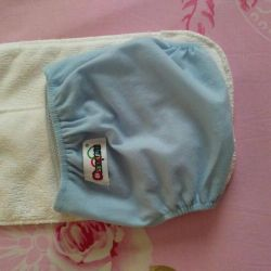 Reusable diaper with 2 inserts