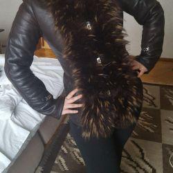Μοντέρνο παλτό από δέρμα προβάτου
