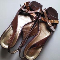 Sandals are varnish