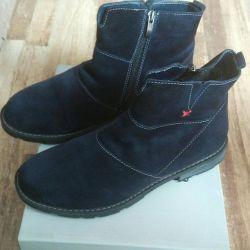 Γυναικείες μπότες αστραγάλου για σουέτ