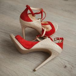 Marka Deri Sandalet Python