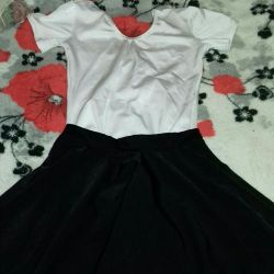 Swimsuit and skirt for dancing