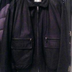 Yalıtımlı astarlı deri ceket. Yeni. p52