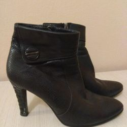 Ankle boots, leather natur.40