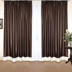 Set of curtains Sydney wenge-milk
