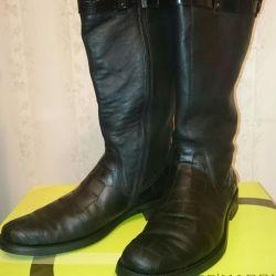 Men's leather boots, river 43, De'Marche