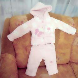 The suit is warm fleece 3-6 months.