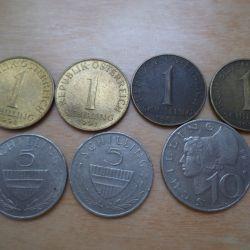 Schilling νομίσματα του 1974-92 - Αυστρία