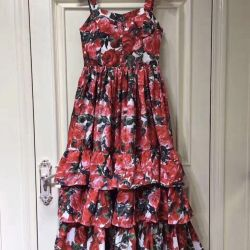 Dress summer dress with roses new