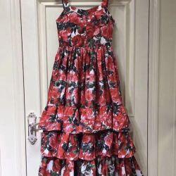 Φόρεμα καλοκαιρινό φόρεμα με νέα τριαντάφυλλα