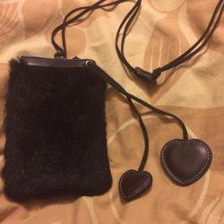 Fur phone case