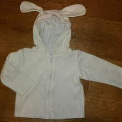 Blue terry jacket Gymboree. 12 -18 months.