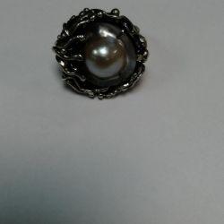 Δαχτυλίδι με μαργαριτάρια ασήμι 925