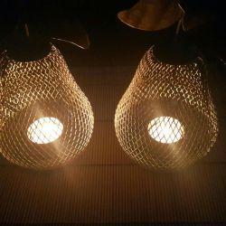 Candlesticks made of brass Indian (pair)