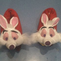 Soft slippers rabbits (hares)