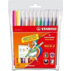 Μαρκαδόροι Stabilo TRIO A-Z, 12 χρώματα