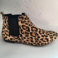Μπότες Τσέλσι, TOPSHOP, Αγγλία, γούνινο πόνυ