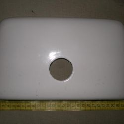 lid for toilet bowl blue and white